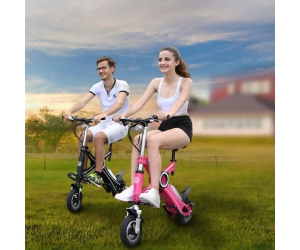 2017 most popular EcoRider electric folding bike E6 with CE certificate