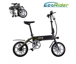 E6-4 Ecorider Folding Electric Bike with Llithium Battery 36V 250W Burshless