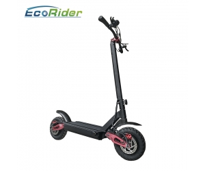Folded Two Wheel 60V 10inch Dual Motor Electric Scooter With Anti-slip Handle Handle