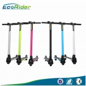 China 2016 EcoRider New Hot Sale Foldable Electric Pro Kick Scooter With Stand and Reflective Film for Adults factory
