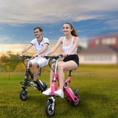 China 2017 most popular EcoRider electric folding bike E6 with CE certificate factory