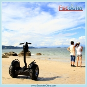 China 72V Samsung Lithium-batterij Electric Self Balancing Chariot Scooter fabriek