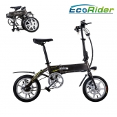 China E6-4 Ecorider Folding Electric Bike with Llithium Battery 36V 250W Burshless factory