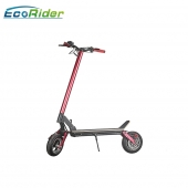 China EcoRider New model long range 10 inch two wheel foldable electric scooter with seat for adults-Fabrik