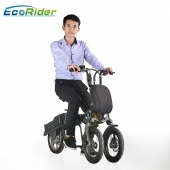 China EcoRider Fast Folding 14 Inch 48v Lithium Battery Electric Bicycle, 3 wheels motorcycle electric bike factory