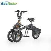 China EcoRider Professional Wholesale 48v Lithium Battery 14 Inch Tyre Electric Bike Made In China factory