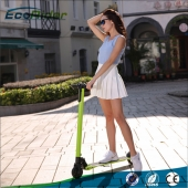 China EcoRider Two wheels electric kick scooter with longboards factory