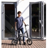 China Fashional X style folding electric bike brushless 350w 36V foldable e bikes factory