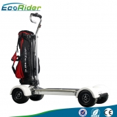 China New Chinese Four Wheels Electric Golf Trolley Cart/Electric Scooter/Electric Golf Trolley for Riding, EcoRider Golf board factory