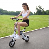 China New Products EcoRider Lithium Battery Folding E-bike / Folding Electric Bike/ Mini Bicycle / Foldable Ebike 350W factory