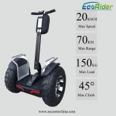 China Off Road Max Kilometerstand 60-70 KM doppelte Akku Brushless 4000W Balance Roller China Segway-Fabrik
