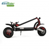 China Off Road Two Motor Folding Electric Scooters factory