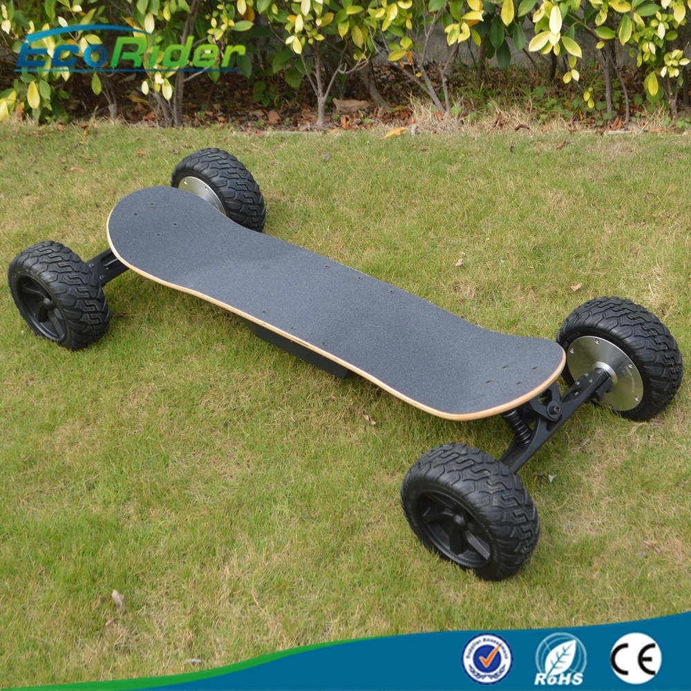 2017 China Cheap High Speed 35km\/h off road four wheel electric skateboard 48v