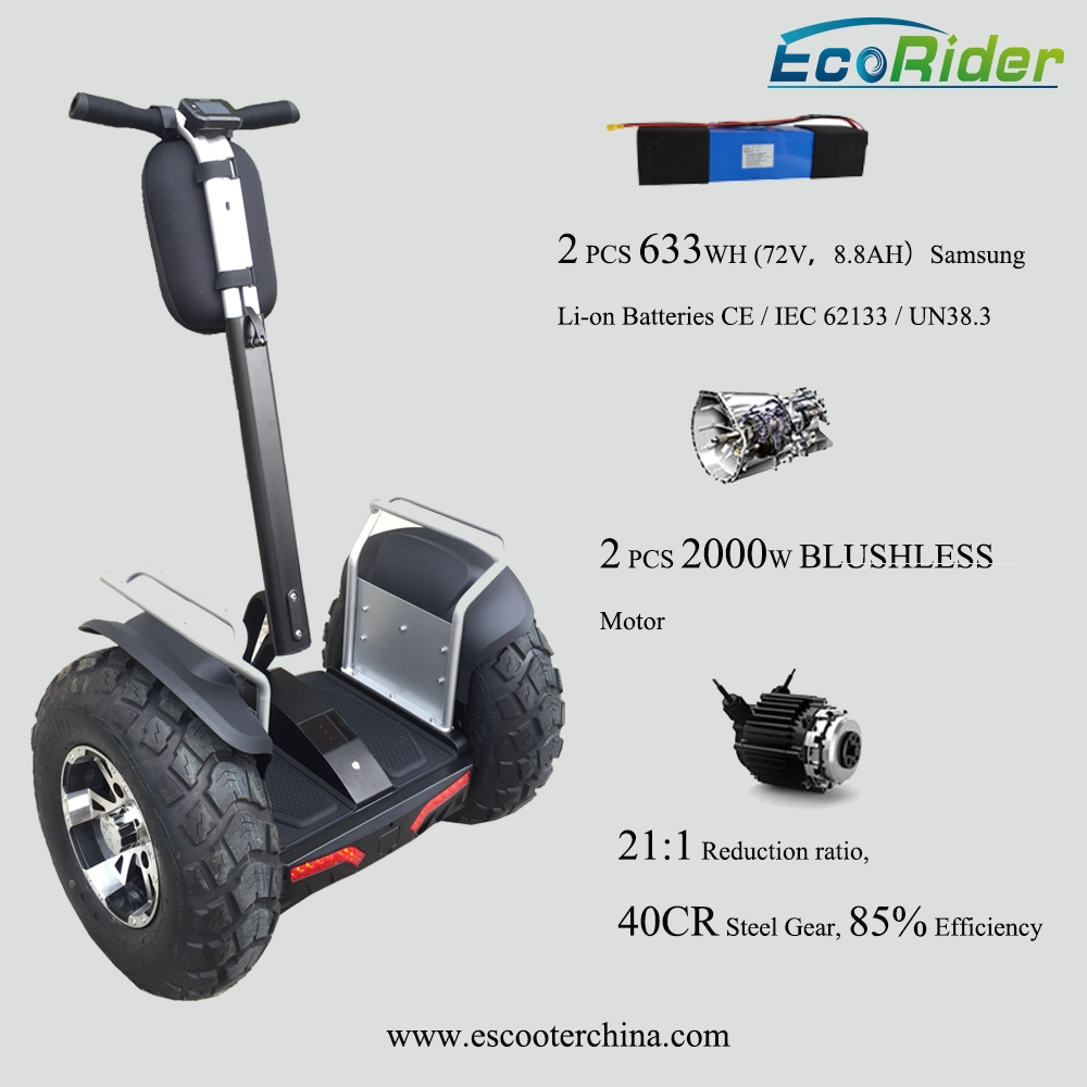 21 inch big tires off road self balancing scooter double for Battery powered dc motor