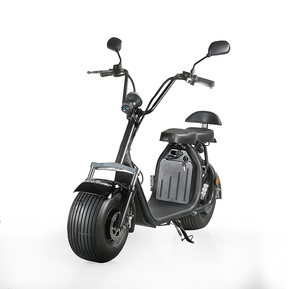 ecorider citycoco fat tire electric scooter two wheel. Black Bedroom Furniture Sets. Home Design Ideas
