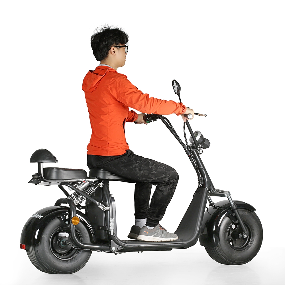 ecorider off road two wheels and seat electric scooter. Black Bedroom Furniture Sets. Home Design Ideas